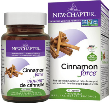 New Chapter Cinnamon Force,  30 Tablets