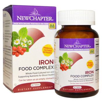New Chapter Fermented Iron Complex, 60 Tablets