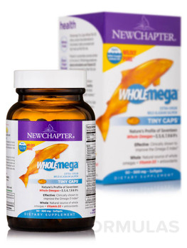 New Chapter Whole Mega Tiny Caps, Extra Virgin Wild Alaskan Salmon Oil, 90 Capsules