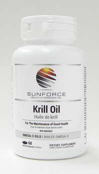 Sunforce Krill Oil, 60 Softgel Capsules