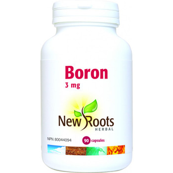 New Roots Boron 3 mg, 90 Veg Capsules