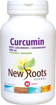 New Roots Curcumin 500 mg, 90 Veg Capsules