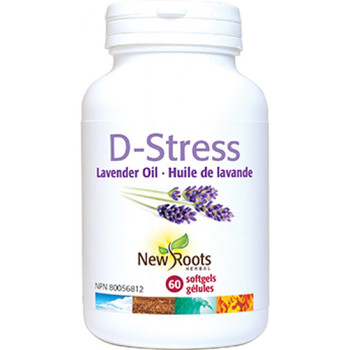 New Roots D-Stress Organic Lavender Oil, 30 Softgels
