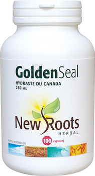 New Roots Golden Seal 250 mg, 100 Veg Capsules