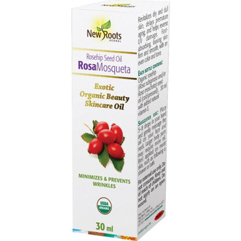 New Roots Rosehip Seed Oil- Organic Beauty Skincare, 30 ml