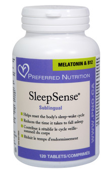 Preferred Nutrition Sleep Sense (Melatonin & B12) 60 Sublingual Tablets