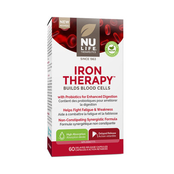 NU LIFE Therapeutics Iron Therapy, 60 Delayed Release Capsules