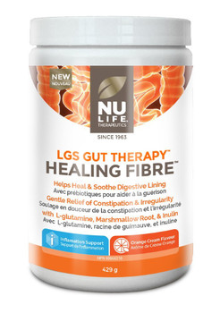 NU LIFE Therapeutics Healing Fibre, Orange Flavour Powder- 429g