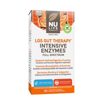 NU LIFE Therapeutics Intensive Enzymes (Full Spectrum) 90 Capsules