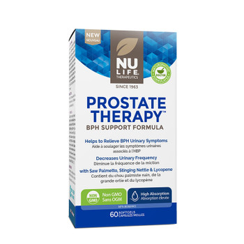 NU LIFE Therapeutics Prostate Therapy (BPH Support Formula) 60 Softgels