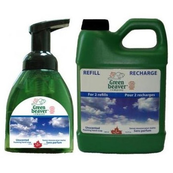 Green Beaver Unscented Foaming Hand Soap & Refill