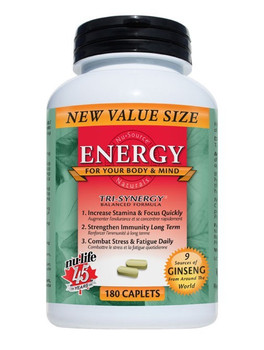 Nu-Life Energy 180 Caplets