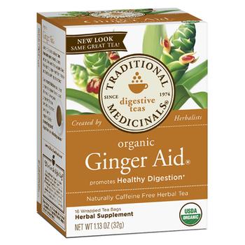 Traditional Medicina Organic Ginger Aid Tea, 40 mg