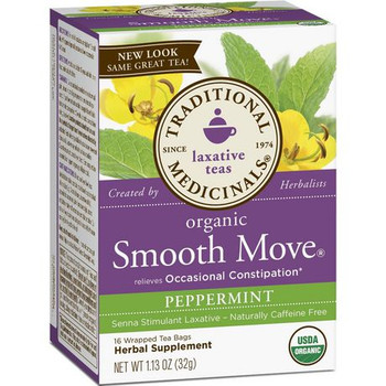 Traditional Medicina Organic Smooth Move Peppermint, 40 mg