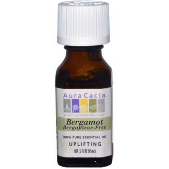 Aura Cacia Bergamot -Bergaptene Free Oil, 15 ml