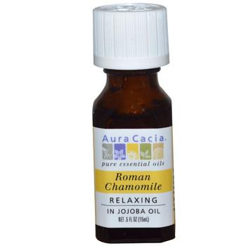 Aura Cacia Roman Chamomile Oil, 15 ml