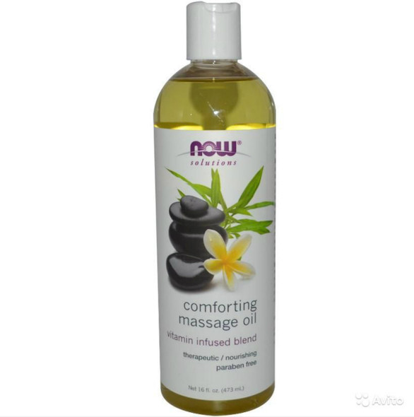 Now Comforting Massage Oil, 473 ml