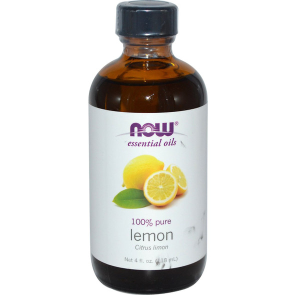 Now 100% Pure Essential Oil-Lemon ,118ml