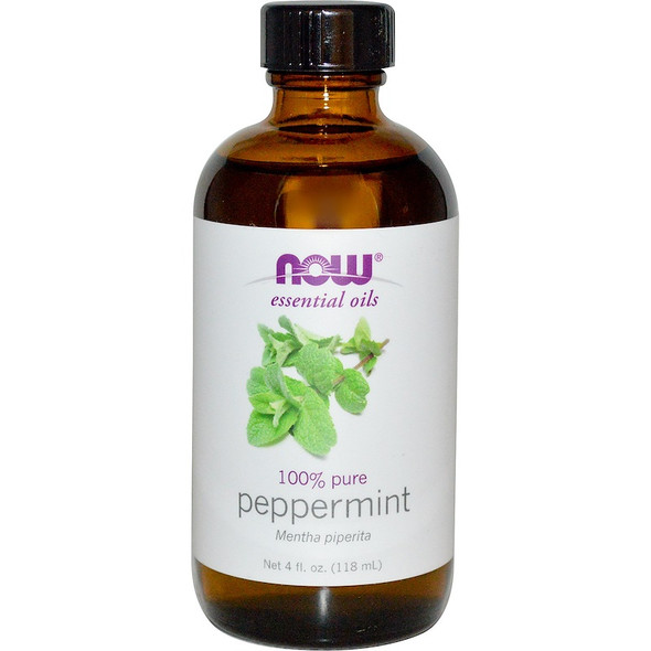 Now 100% Pure Essential Oil- Peppermint, 118 ml