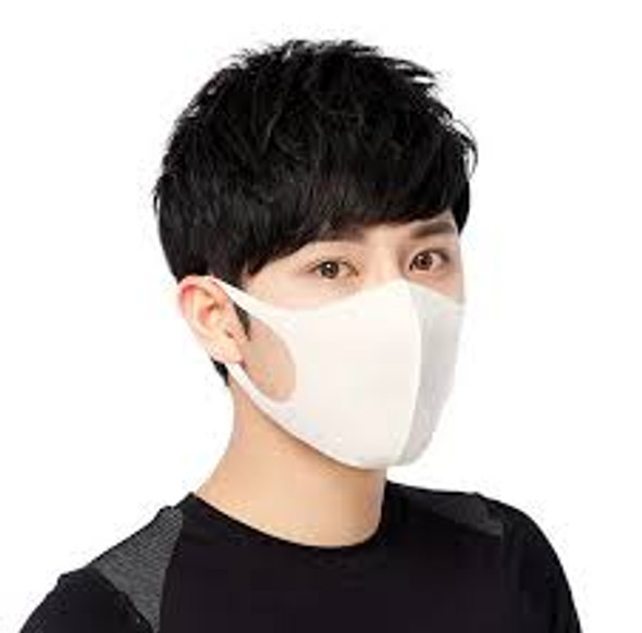 FASHION RE-USEABLE MASK WHITE