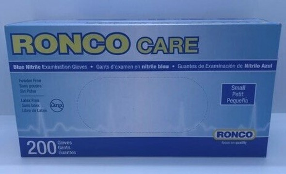 RONCO NITRILE GLOVES SMALL 200