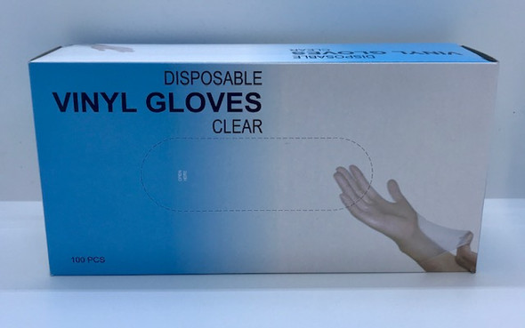 DISPOSABLE VINYL GLOVES CLEAR MEDIUM