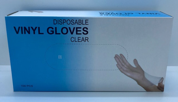Disposable Vinyl Gloves Clear Large 100