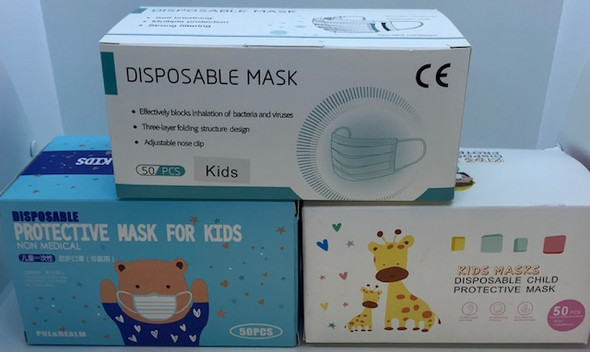 KIDS DISPOSABLE FACE MASK 50