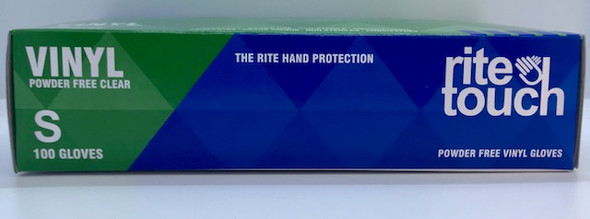 RITE TOUCH SMALL POWDER FREE VINYL GLOVES 100