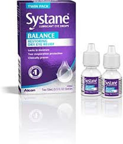 Systane Balance Lubricant Eye Drops, Twin Pack 2x10mL