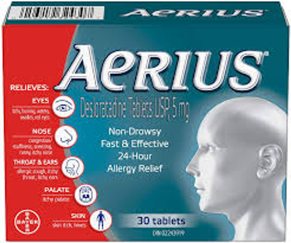 AERIUS ALRGY TB 5MG 30