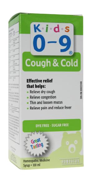 kids 0-9 cough