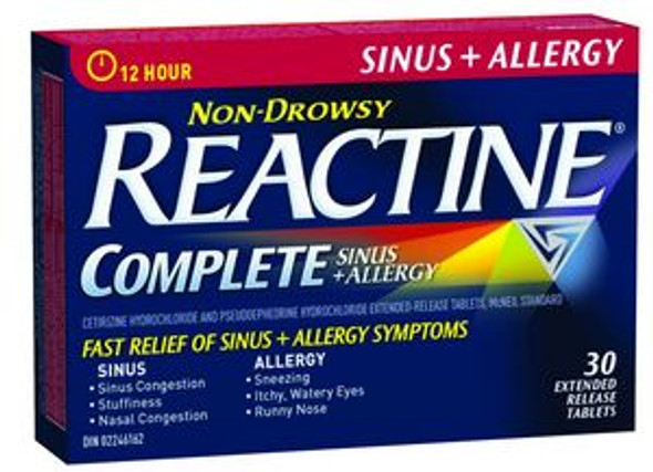REACTINE ALRGY&SINUS 30