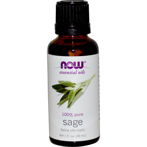 Now Pure Sage Essential Oils, 1 fl. oz. 30 ml