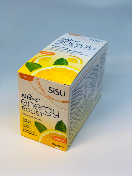SISU Ester-C Energy Boost, 30 Packets Natural Orange
