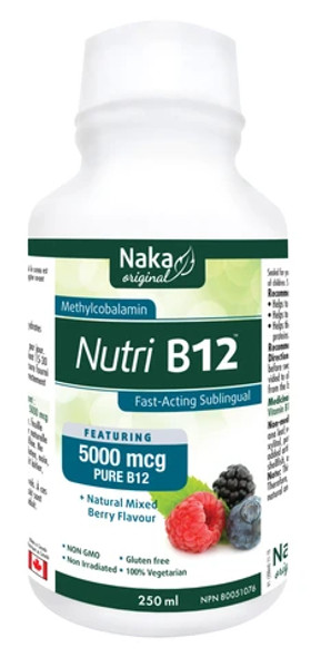 Naka Nutri B12 5000mcg Berry 250ml