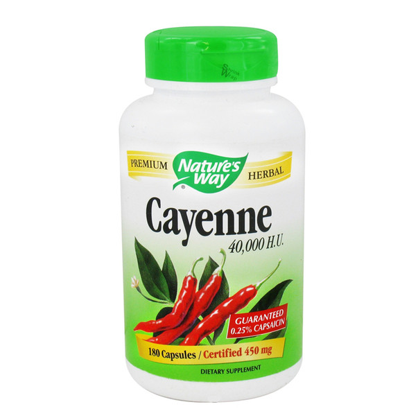 Nature's Way Cayenne Pepper 450 mg, 100 Capsules