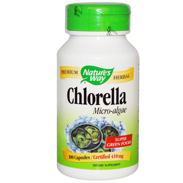 Nature's Way Chlorella 410 mg, 100 Capsules