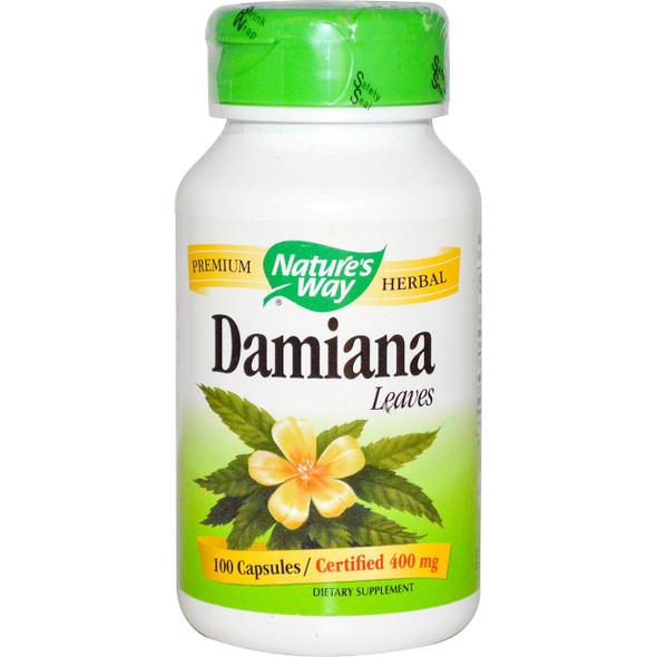 Nature's Way Damiana Leaves 400 mg, 100 Capsules
