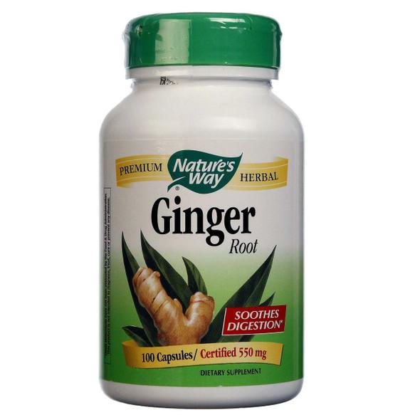 Nature's Way Ginger Root 550 mg, 100 Capsules