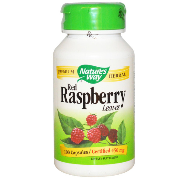 Nature's Way Raspberry Leaves 450 mg, 100 Capsules