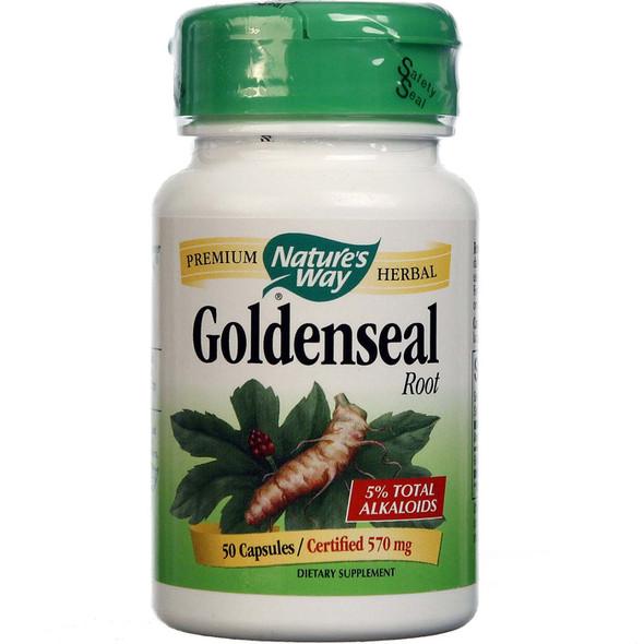 Nature's Way Goldenseal Root 570 mg, 50 Capsules