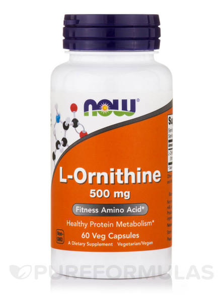 NOW L- Ornithine 500 mg, 60 Capsules