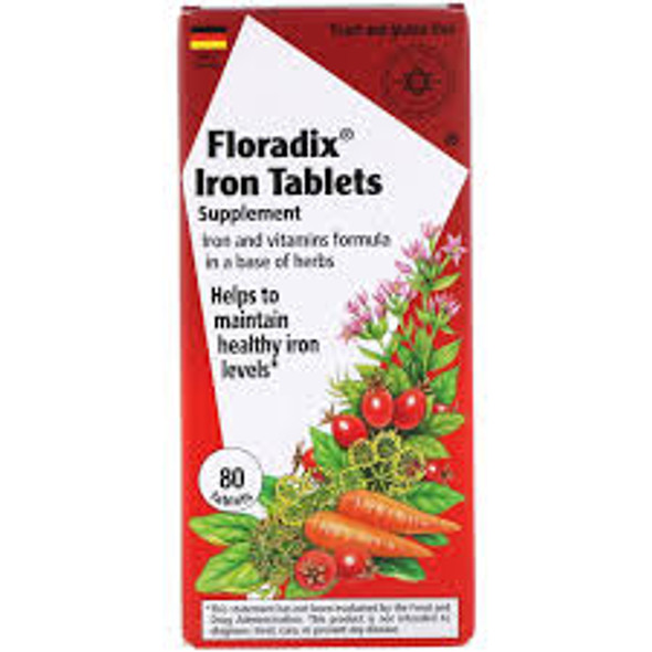 FLORA FLORADIX IRON 80s 80 tablets