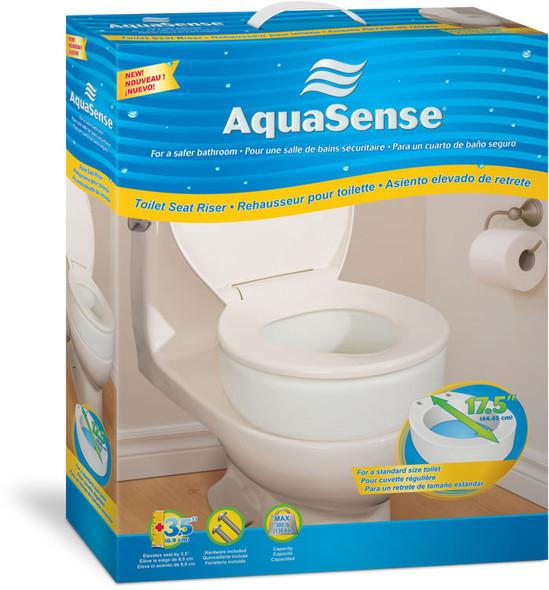 aqua sense raised toilet seat 3.5 inches