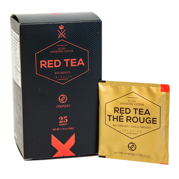 Organo Gold Red Tea w/ Cordyceps & Ganoderma (25 sachets)