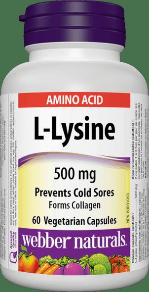 l-lysine webber 60 caps