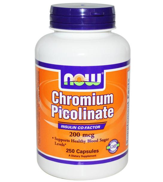Now Chromium Picolinate 200mg  250 Capsules
