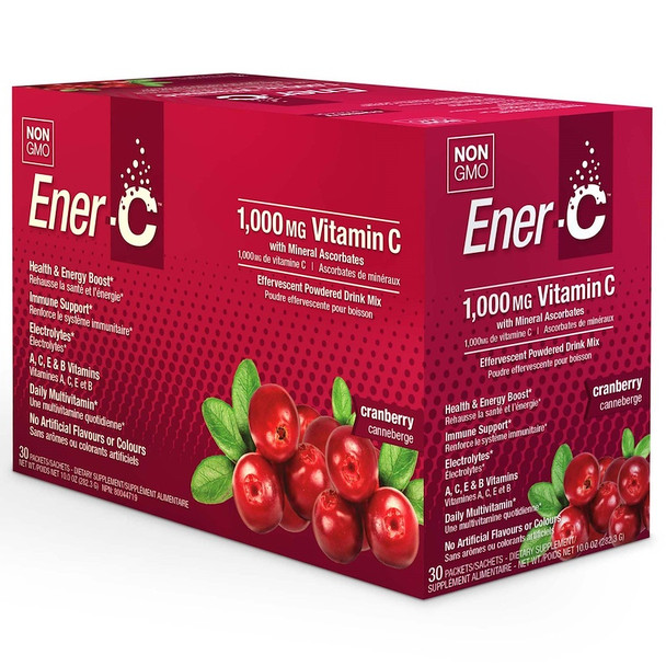 Enter-C Effervescent Drink Mix with 1000mcg of Vitamin C (Cranberry)