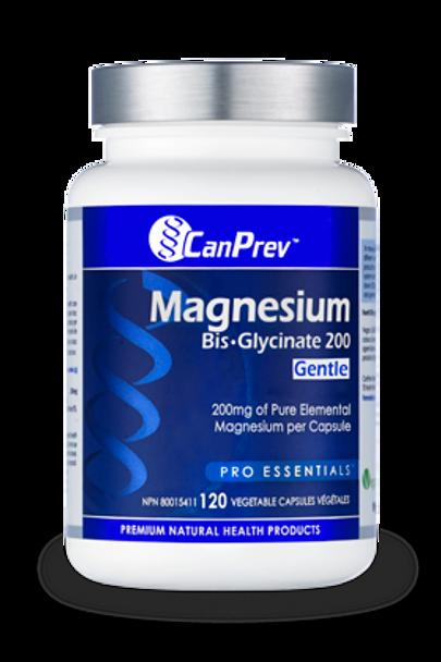CanPrev Magnesium BisGlycinate 200 Gentle 200mg, 240 Capsule
